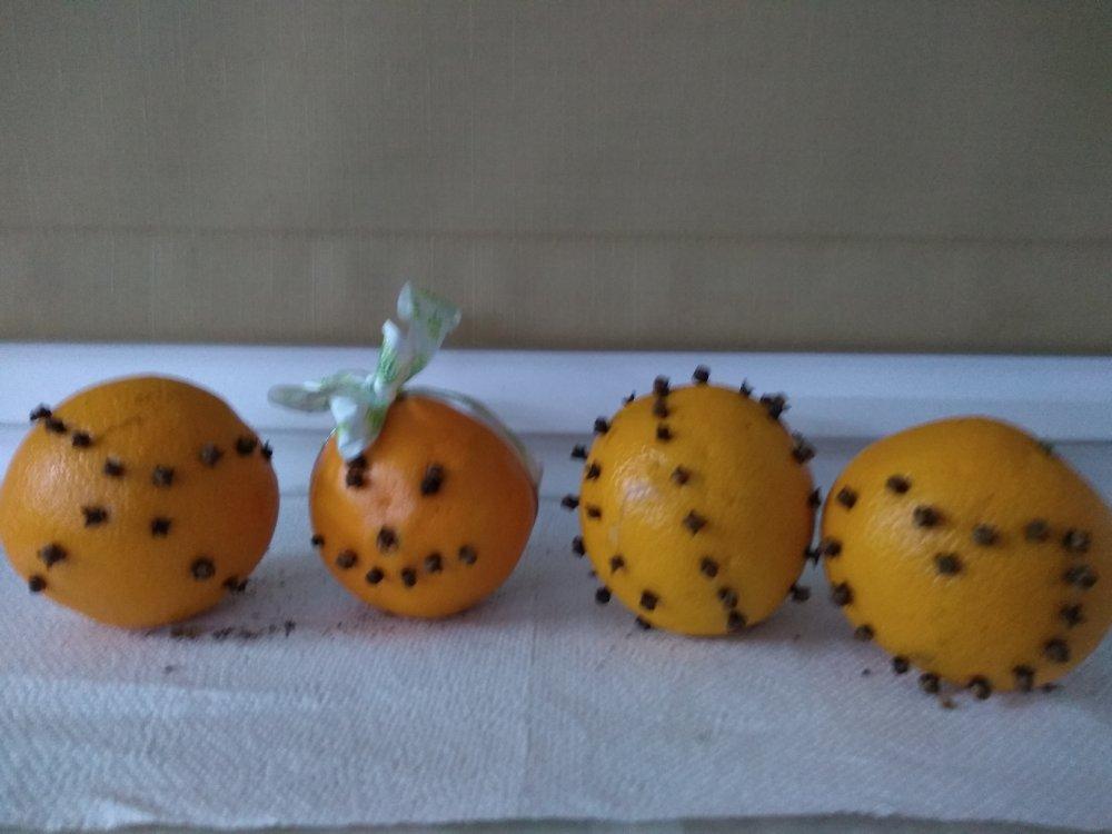 ozdoba z pomarańczy